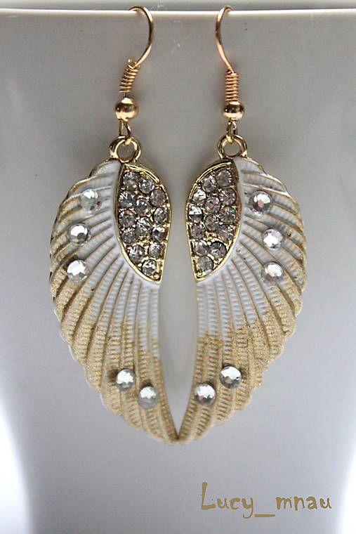 lucy_mnau / Anjelské krídla melírované-zlaté :)