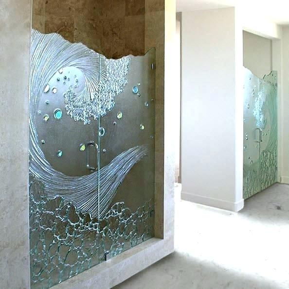 Interesting Etched Shower Doors Door Decals Showers Glass