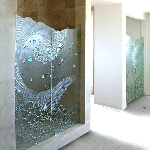 Interesting Etched Shower Doors Door Decals Showers Glass Contemporary Bathroom Frosted Uk In