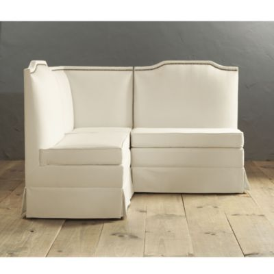 Hampton 3 piece upholstered set ballard designs for Ballard designs bench seating