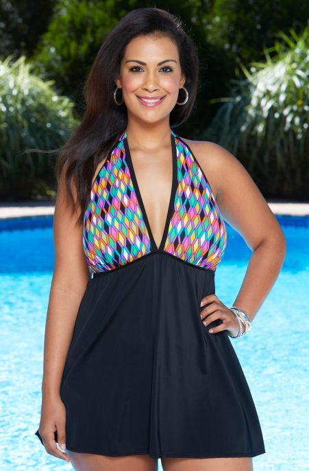 Kick Things Up A Notch With The Step It Up Halter Swim Dress By