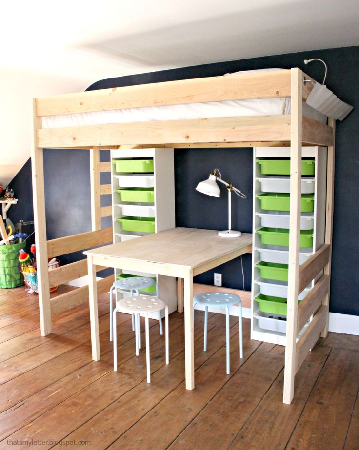 24 best Loft Bed Plans images on Pinterest | Baby bedroom, Bedroom ...