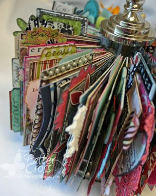 Storing Your Techniques:  Once your sample cards are done, put the technique instructions on the back of each ATC.  To store, use the 7Gypsies ATC holder.  Also, store the dies.