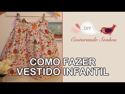 Vestido pars bebê com manga e abertura atrás passo a passo - YouTube