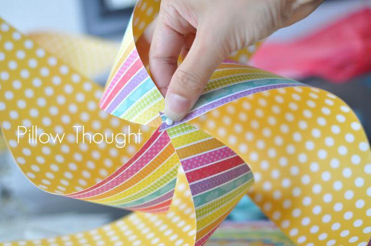 how to make a giant pinwheel