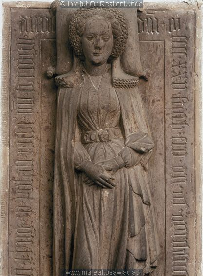 Effigy of Anne von Teck, countess of Celje, daughter of Casimir the Great, king of Poland. Effigy dates back to 1420 - 1430.