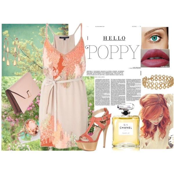 Summer Love!, created by kford-636 on Polyvore. Pastel coral/peach in a lace pattern design