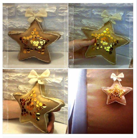 Подушка звезда. Декоративная объемная подушечка звезда. Можно повесить на стеночку, есть петелька. Ручная работа.