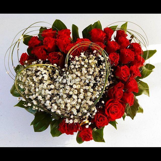 Цветов интернету, большие букеты роз с гипсофилой