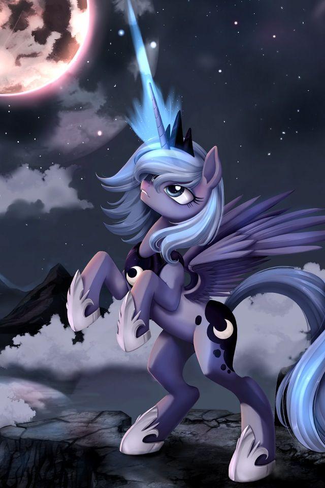 Princess Luna raising the moon.