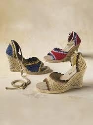Resultado de imagem para zapatillas de plataforma tejidas a crochet