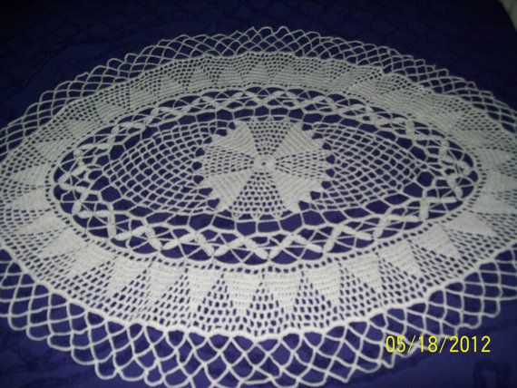 Oval Doily by gcraftsm1 on Etsy, $30.00