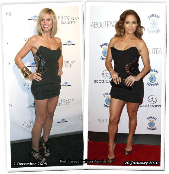 Heidi Klum vs Jennifer Lopez (AGAIN). I give it to Jennifer Lopez. It's always about the styling and Jennifer is on point with everything from head to feet.