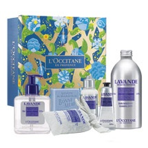 Escape from the hustle and bustle of life with the Lavender Spa ($68). Cleanse, relax, moisturize and enjoy Lavender Foaming Bath, Lavender Cleansing Hand Wash, Shea Butter Lavender Hand Cream, Lavender Body Lotion,  Bonne Mere Lavender Soap, and a Lavender Perfumed Sachet! #loccitane and #repinforsweetskin