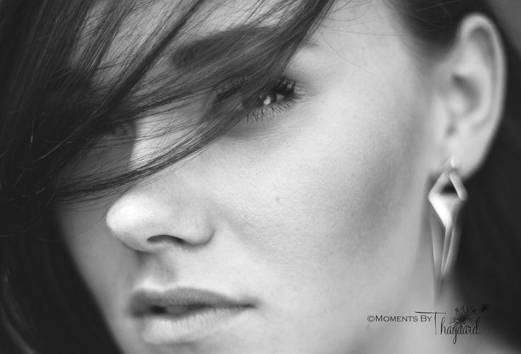 woman female beauty portrait bw hair earrings jewelry
