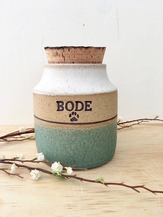 Ceramic pet urn handmade pet urn