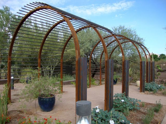 rebar arbor. To grow morning glories, grapes and other lovely vines!