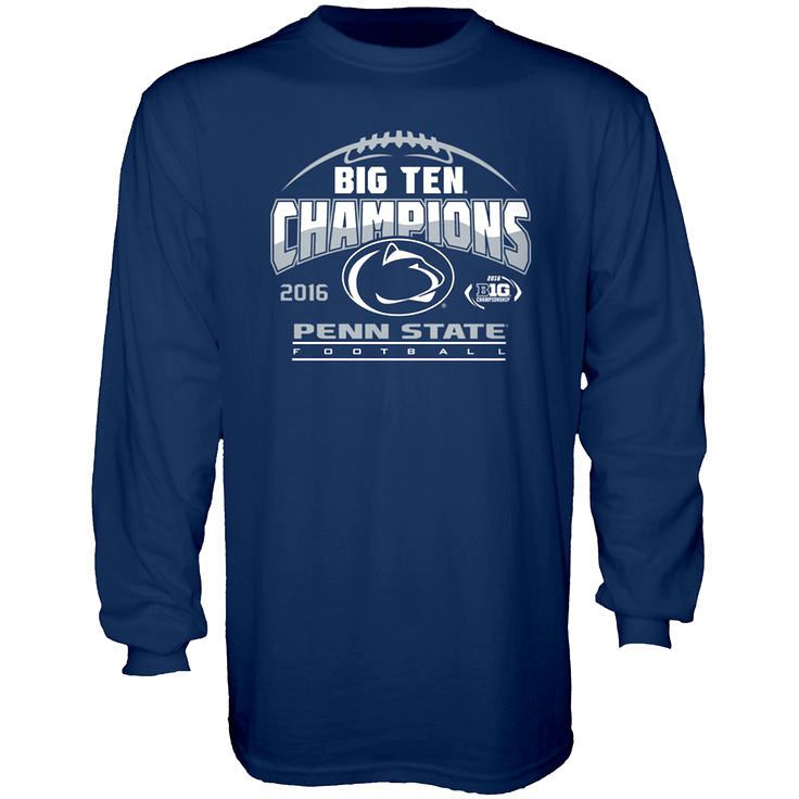 Penn State Nittany Lions Blue 84 2016 Big Ten Football Champions Locker Room Long Sleeve T-Shirt - Navy - $23.99