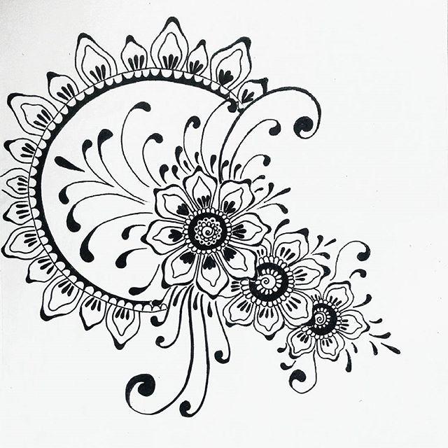 Навстречу солнцу ☀#орнамент #цветы #рисунок #эскиз #мехенди #art #artwork #tattoart #mehendi #liner