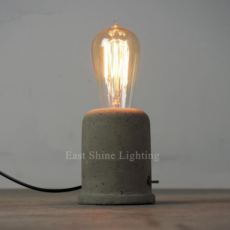 edison table lamp vintage home lighting. cheap lamp diamond buy quality directly from china mobile suppliers vintage loft concrete cement table lamps bedroom bedside home edison lighting e
