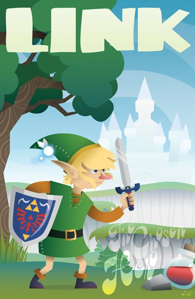 Link - SNES Character Posters  Created by Josh Legendre