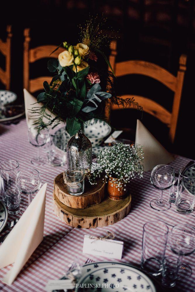 plastry drewna, styl rustykalny