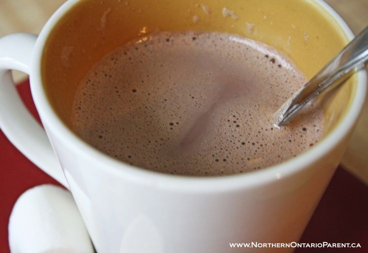 Yum! Homemade Hot Chocolate  Here's where you can find the recipe: http://www.northernontarioparent.ca/#!recipe-homeade-hot-chocolate/c1edd