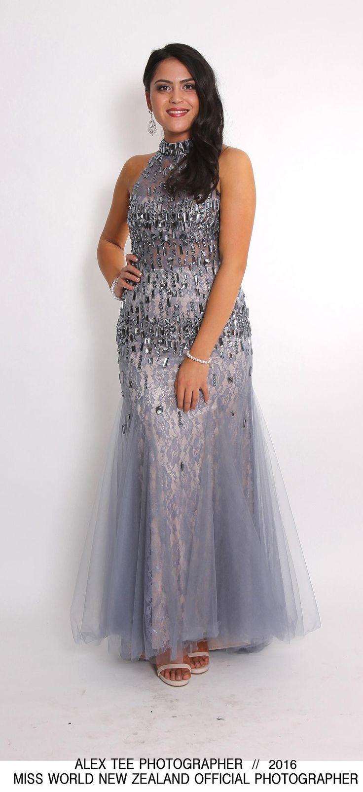Chantel - Miss World New Zealand 2016 Finalist. Evening gown by Bridal and Ball NZ