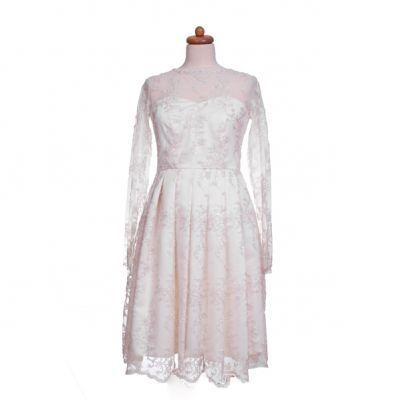 Koronkowa suknia ślubna lata 50