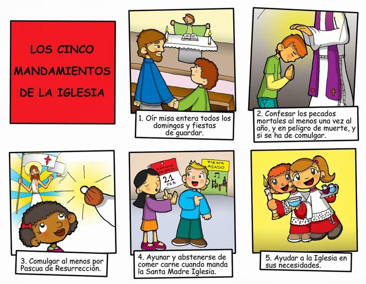Dibujos para catequesis: LOS 5 MANDAMIENTOS DE LA IGLESIA