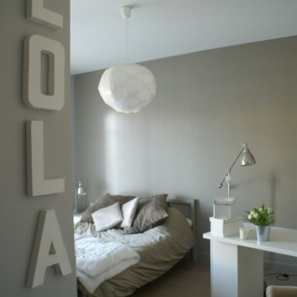 Worm grey bedroom