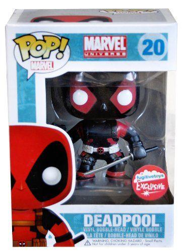 "Funko Pop 4"" Vinyl Marvel Figure Deadpool Black Fugitive Toys Exclusive  Get more POP! Vinyls here http://popvinyl.net #funko #popvinyl"