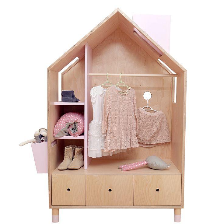 Furniture for kids Beautifull wardrobe HOUSE STYLE design for kids  Szafa 'DOMEK' dla dzieci. Jest to antyalergiczny mebel ze sklejki z kolorowymi akcentami