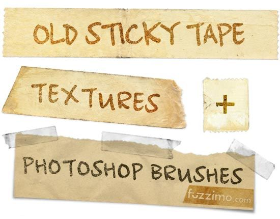 Free Old Sticky Tape Textures + PS Brushes: Free Photoshop Brushes, Tape Brushes, Sticky Tape, Photoshop Photography, Graphics Design, Free Brushes Photoshop, Photoshop Freebies, Tape Texture, Photoshop Texture