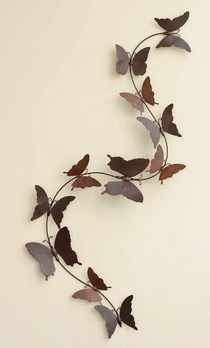 metal wall art - butterflies