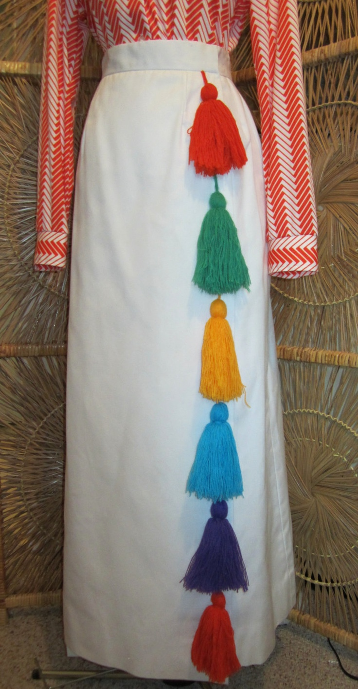 Vintage carnival ride www imgarcade com online image arcade - Reserved For Smh Vintage 1960s Maxi Skirt Tanneryway By Melba Hobson Mod Colorful Tassels