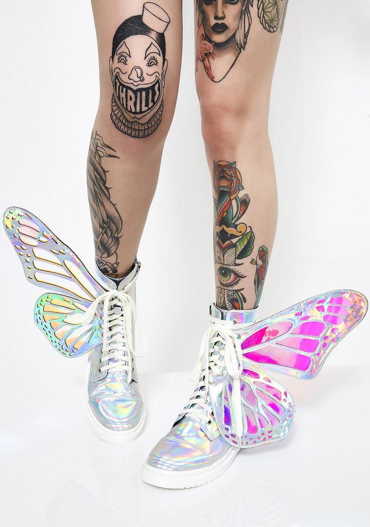 Club Exx Holographic Metamorphic Boots