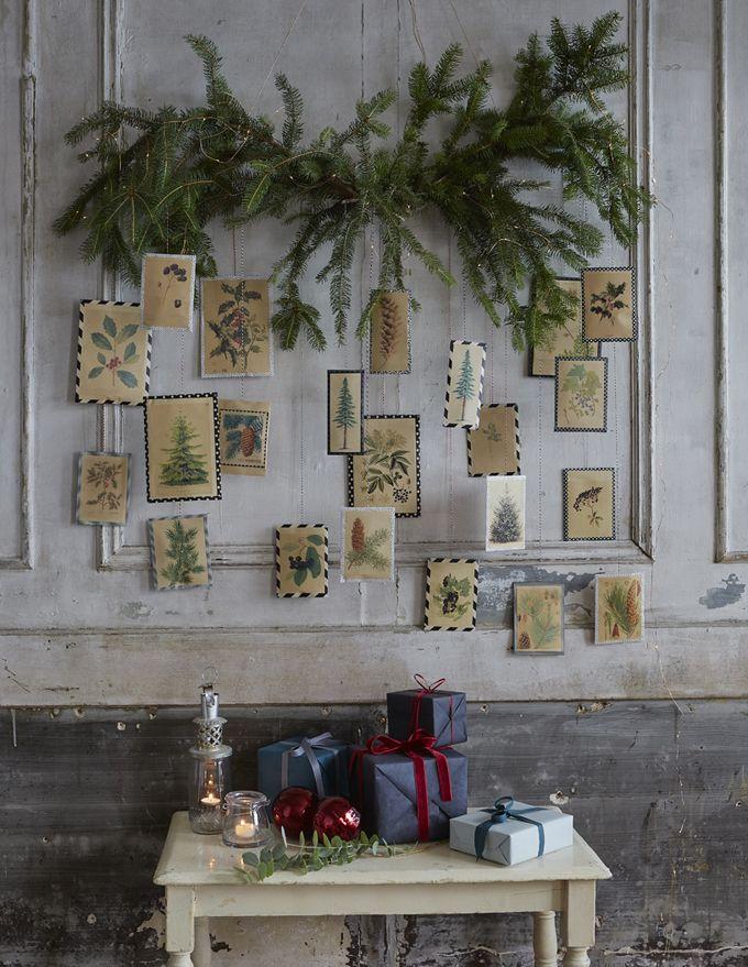 Fabriquer un calendrier de l'Avent botanique pour les grands