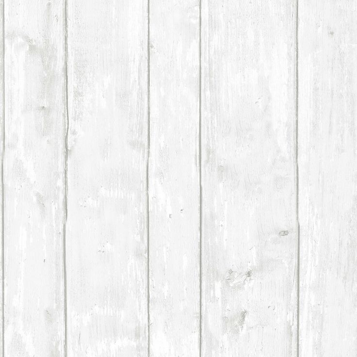 Graham Brown Contour White Whitewashed Wood Kitchen Bathroom Wallpaper
