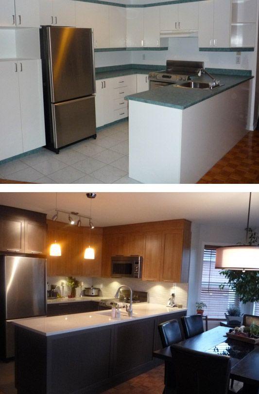 une métamorphose de cuisine magnifique / a stunning kitchen makeover . Before and after