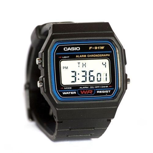 Casio Desing F-91W Digital Watch with Resin Strap Black