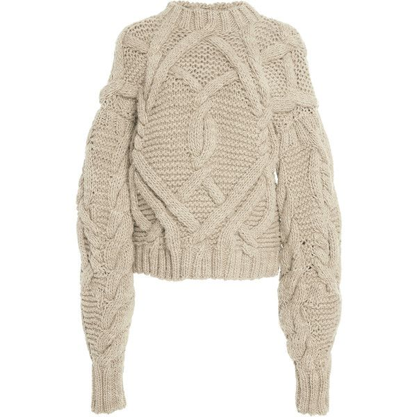 Pilar Cable Handknits Pullover | Moda Operandi ($795) ❤ liked on Polyvore  featuring tops. Oversized Cable Knit SweaterCable ... - Best 20+ Chunky Cable Knit Sweater Ideas On Pinterest Green