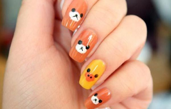 Diseños de uñas kawaii japoneses, diseño de uñas kawaii rilakkuma.  Join to CLUB! #decoraciondeuñas #nailsCLUB #uñasdemoda