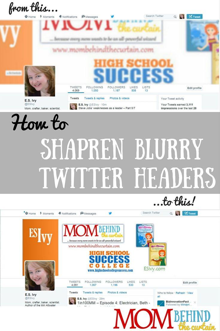 How to Sharpen Blurry Twitter Header Photos