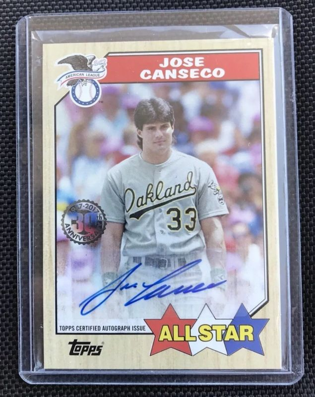 Jose Canseco 2017 Topps Series 2 30th Anniversary 1987