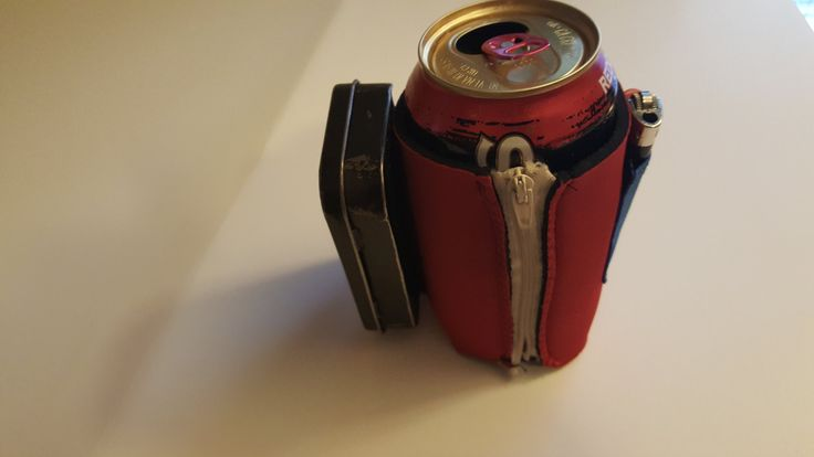 Zipper Lighter Holder Koose w/ Velcro Cigarette Attachment by BuildingandBlogging on Etsy