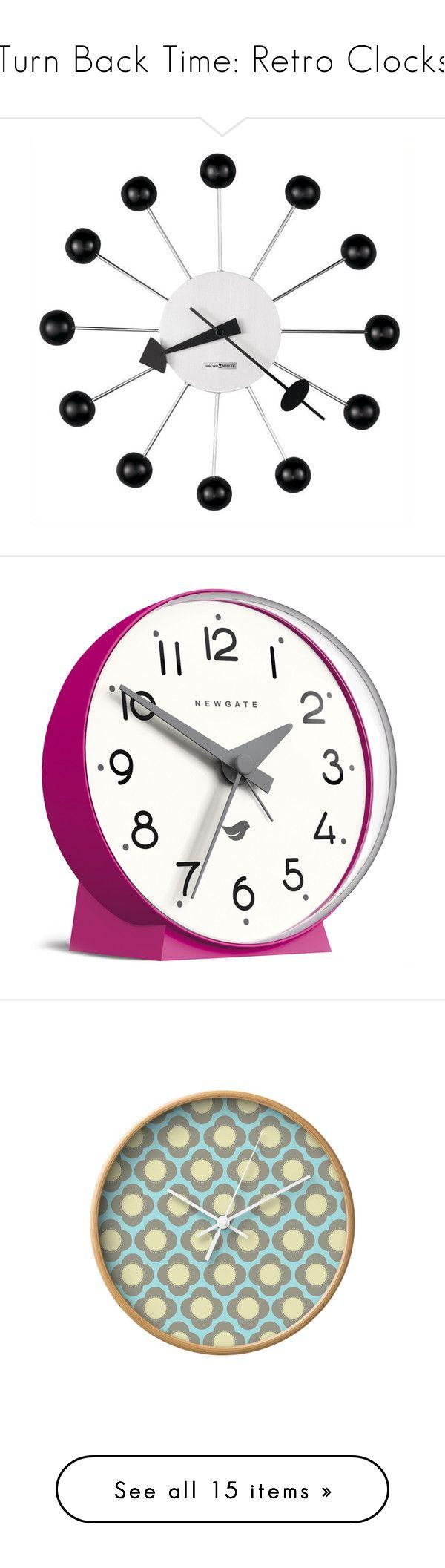 Pinterestteki 25den fazla en iyi howard miller wall clock fikri turn back time retro clocks by polyvore editorial liked on polyvore featuring retroclocks home home decor clocks battery operated clocks amipublicfo Gallery