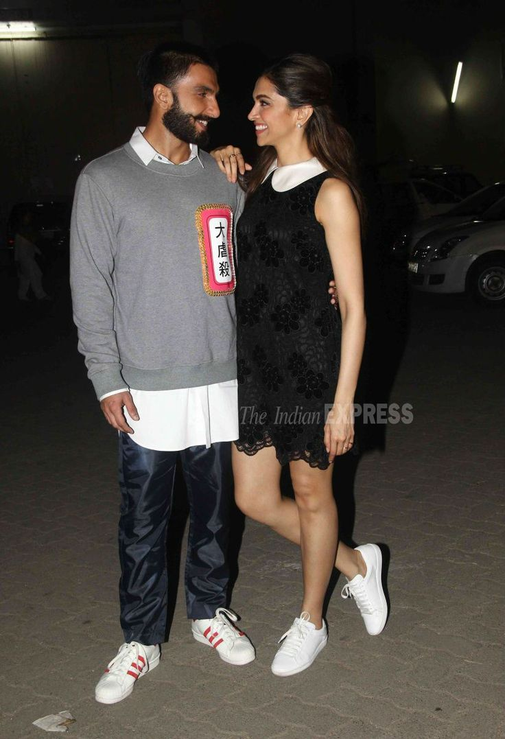 Ranveer Singh and Deepika Padukone outside a film studio. #Bollywood #Fashion #Style #Beauty #Hot #Handsome #LBD