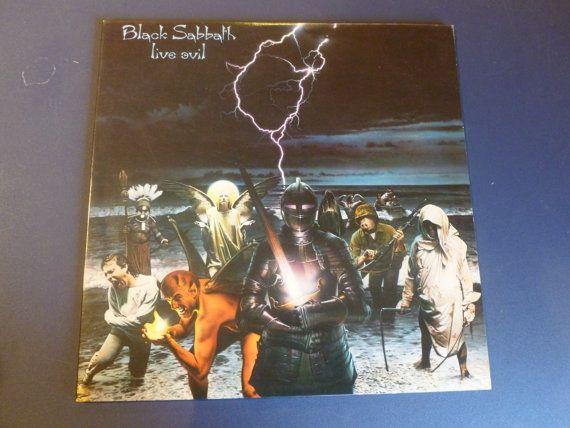Black Sabbath Live Evil Double Vinyl Record 23742-1 G 1982