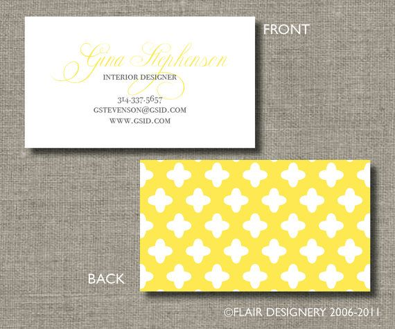 Modern Quatrefoil Calling Cards, Call Me Cards, Business Cards - Set of 100